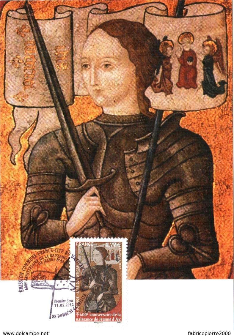 Carte Maximum YT 4654, 600e Anniversaire De Jeanne D'Arc 11 05 2012 Domrémy-la-Pucelle 88 (Vosges) Parfait état - 2010-....