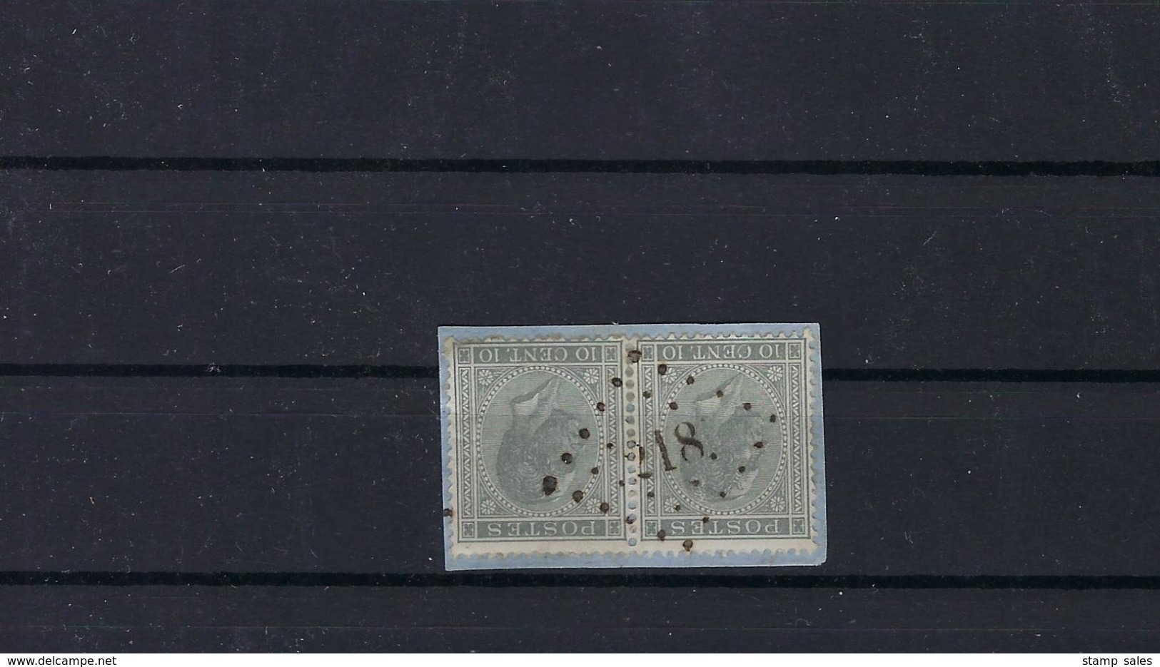 N°17 GESTEMPELD Pt218 Lierre COB € 9,00 + COBA € 3,00 SUPERBE - 1865-1866 Profile Left