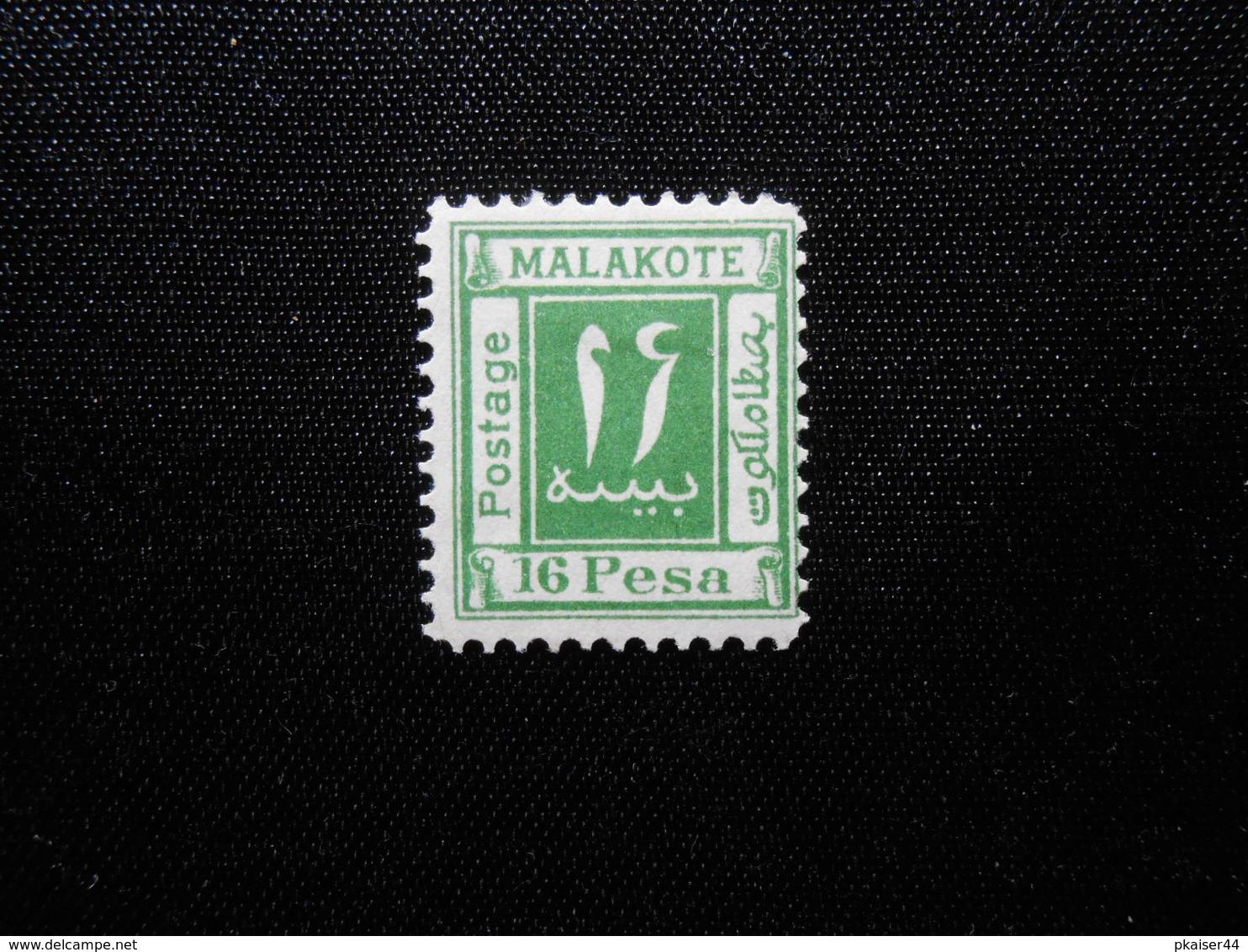 DR Mi 16P(*)UNG - DOA - Witu Malakote (Deutsch-Ostafrika) Private Ausgabe - Colony: German East Africa