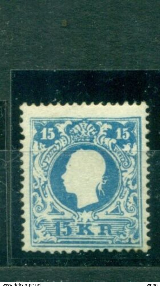 Österreich, Kaiser Franz-Joseph Nr. 15 I A Neugummi Befund Prüfstelle Basel - 1850-1918 Imperium