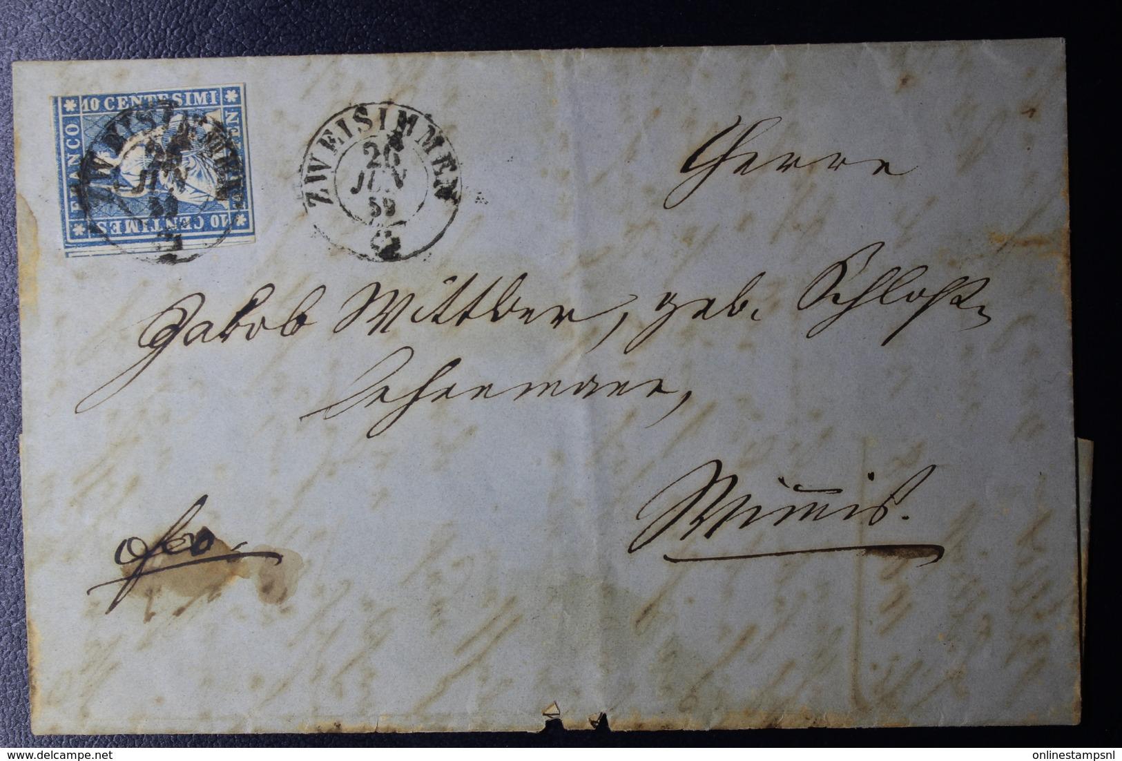 Switserland Complete Letter 1859 Mi Nr 23 Zweisimmen - Brieven En Documenten