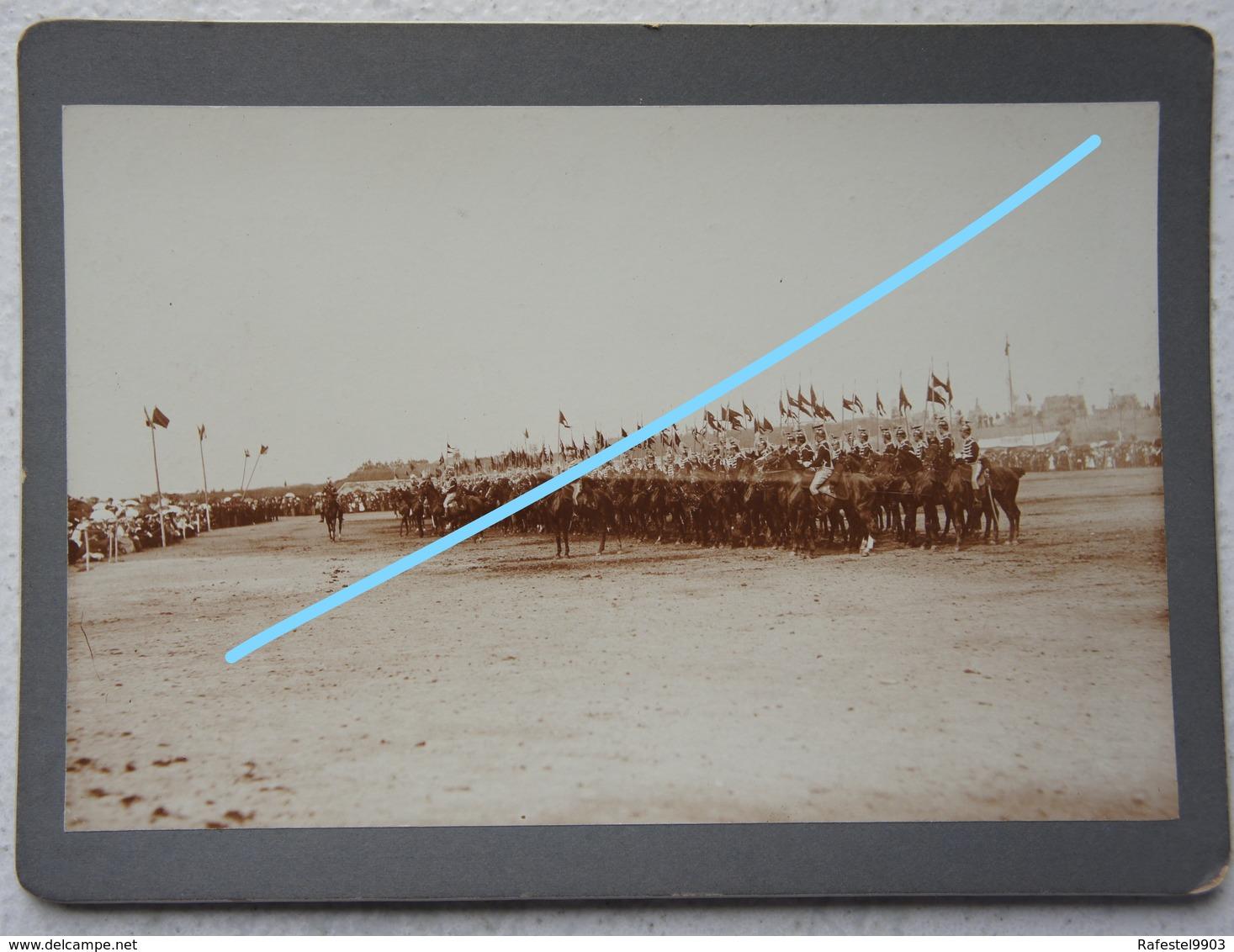 Photo ABL Lancier Lansier Parade Circa 1900 Cavalerie Officiers Cheval Paard Armée Belge Belgische Leger Militaria - Krieg, Militär