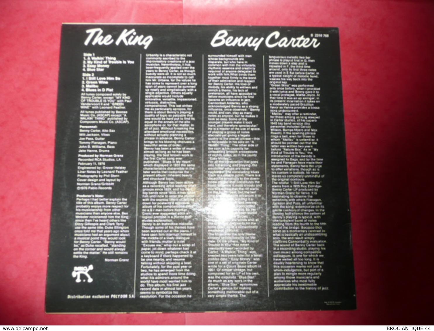 LP33 N°1148 - BENNY CARTER - THE KING - COMPILATION 8 TITRES - Jazz