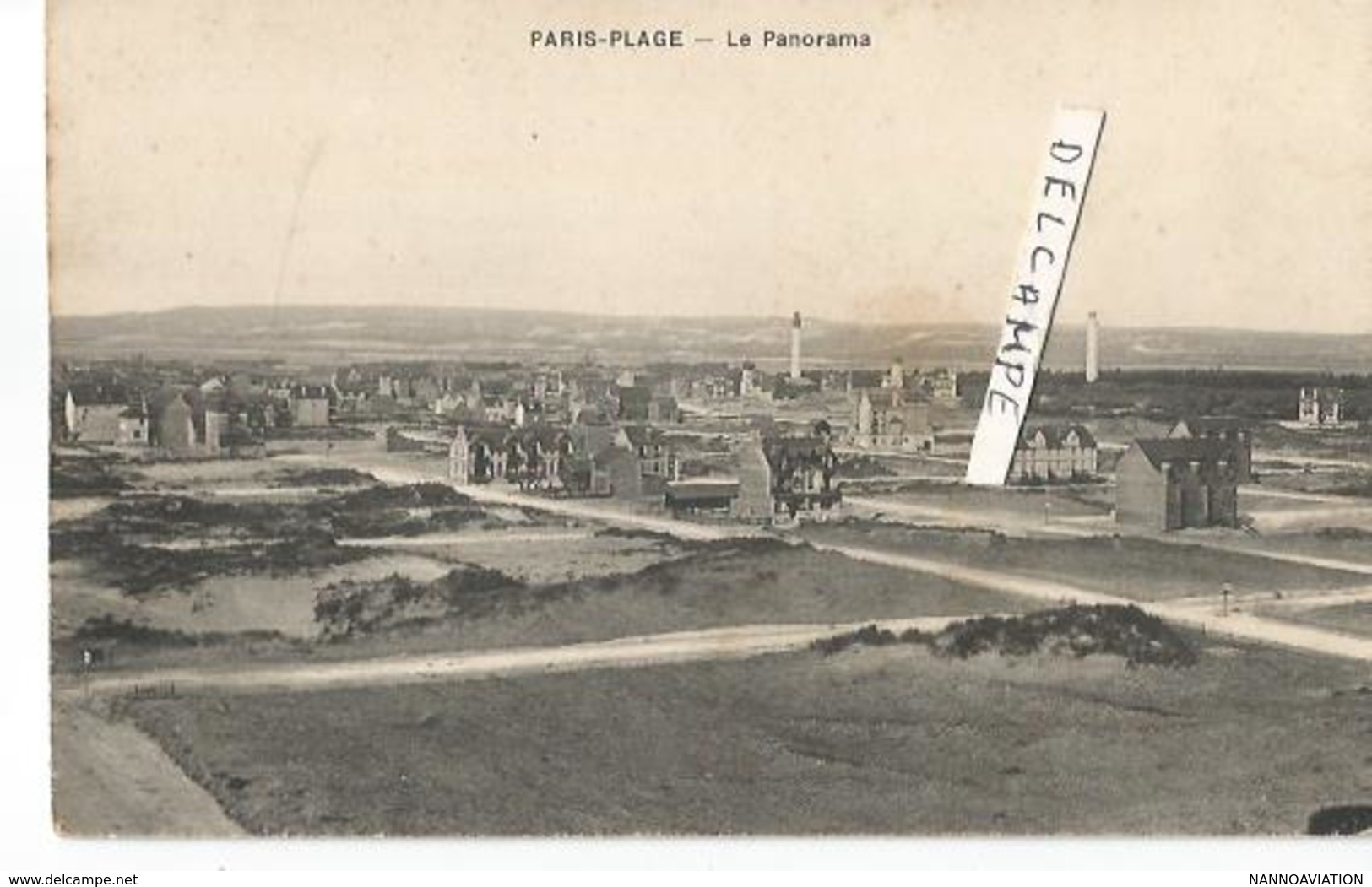 CP LE TOUQUET PARIS PLAGE PANORAMA - Le Touquet
