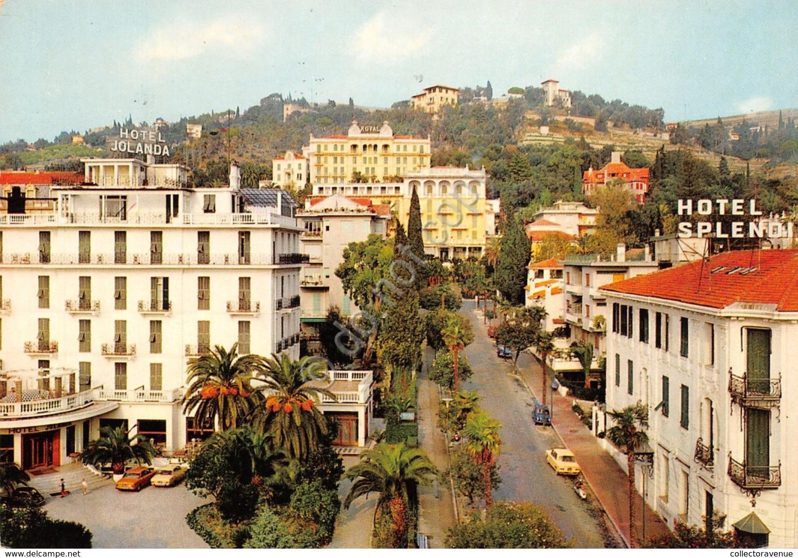 Cartolina Bordighera Corso Italia Hotel Jolanda Hotel Splendid 1971 - Imperia