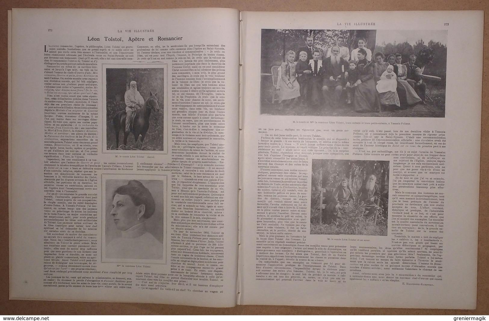 """La Vie Illustrée N°145 Du 26/07/1901 Léon Tolstoï Yasnaïa-Polania - Roi De Siam - Duc D'Orléans Sur Le """"Maroussia"""" - Altri"""