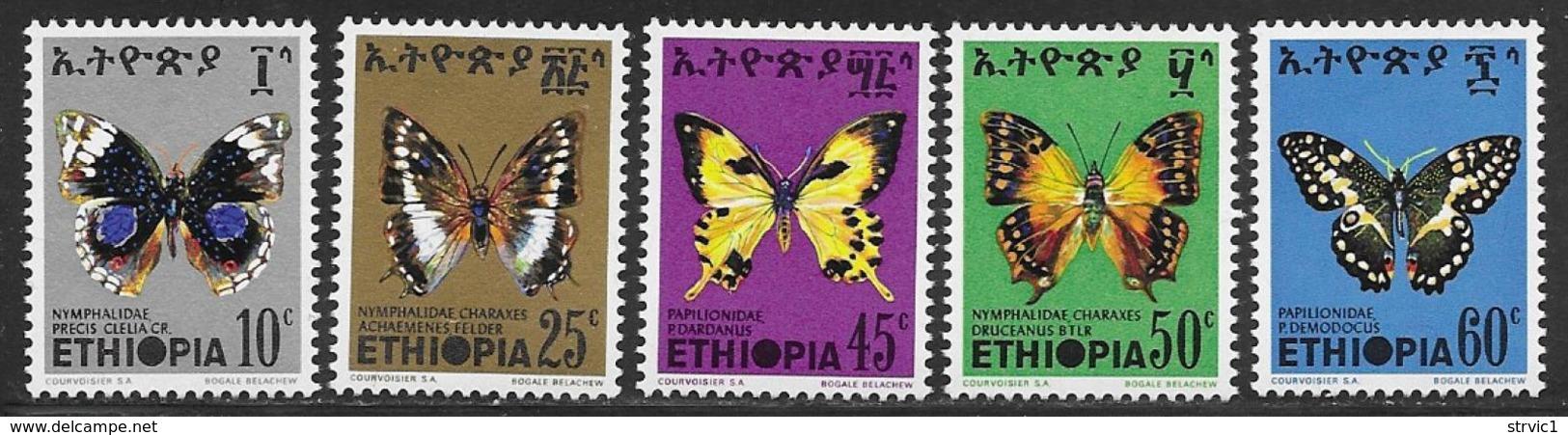 Ethiopia Scott # 720-4 MNH Butterflies, 1975 - Ethiopia