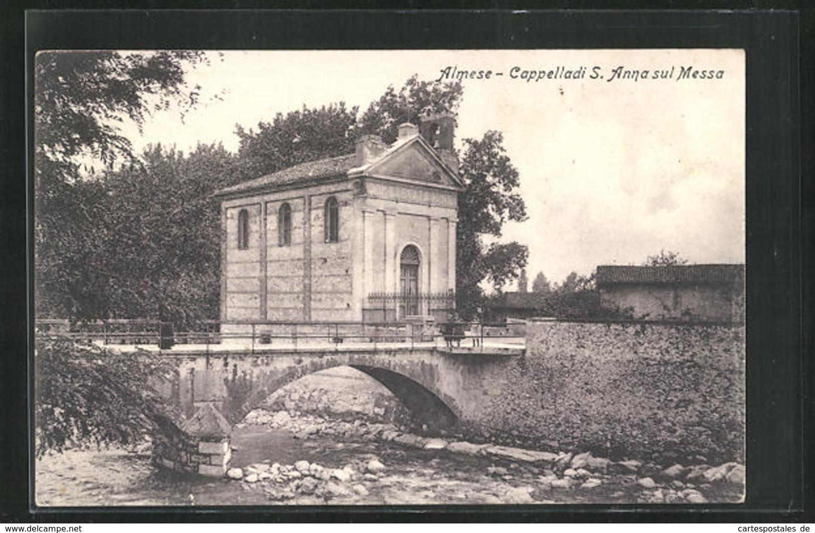 Cartolina Almese, Cappella Di S. Anna Sul Messa, Kapelle - Otras Ciudades