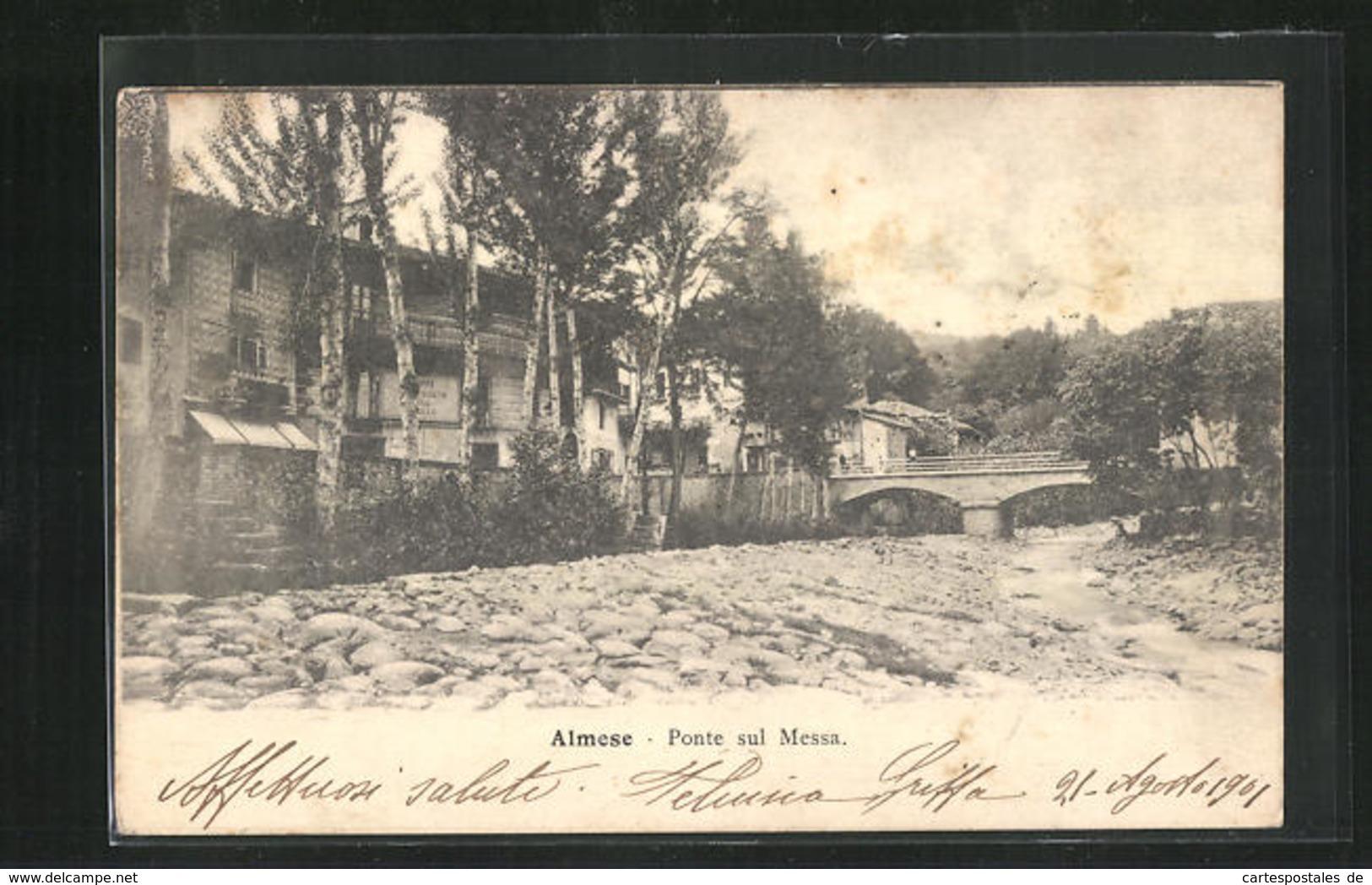 Cartolina Almese, Ponte Sul Messa, Blick Nach Brücke - Andere Steden