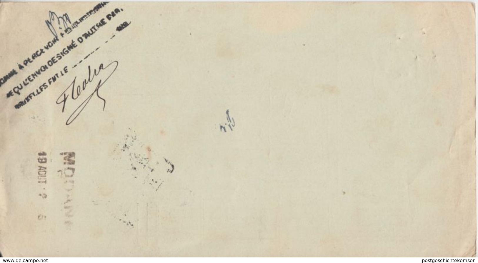 Italien - 1,25 L. Ganzsache Paketkarte M. Zusatz N. BELGIEN Firenze Brüssel 1912 - Italia