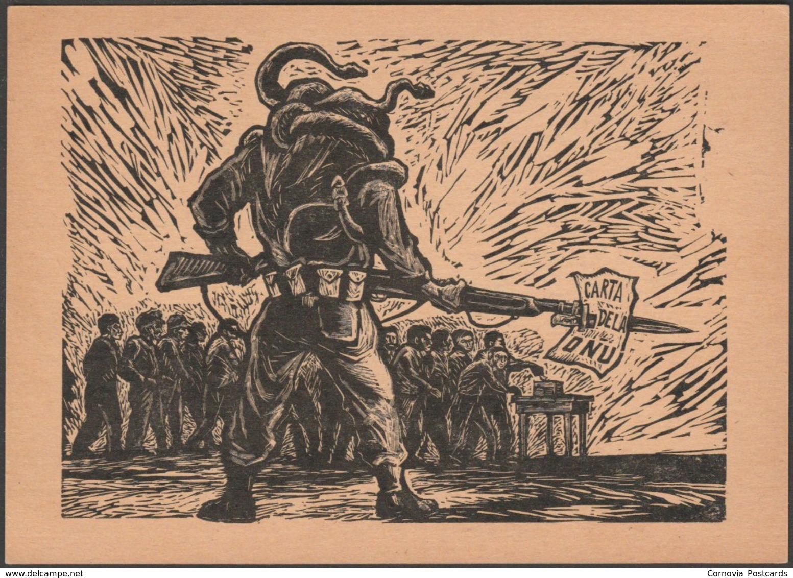 Arturo García Bustos - La Carta De La Onu, 1949 - Taller De Gráfica Popular Tarjeta Postal - Other Illustrators