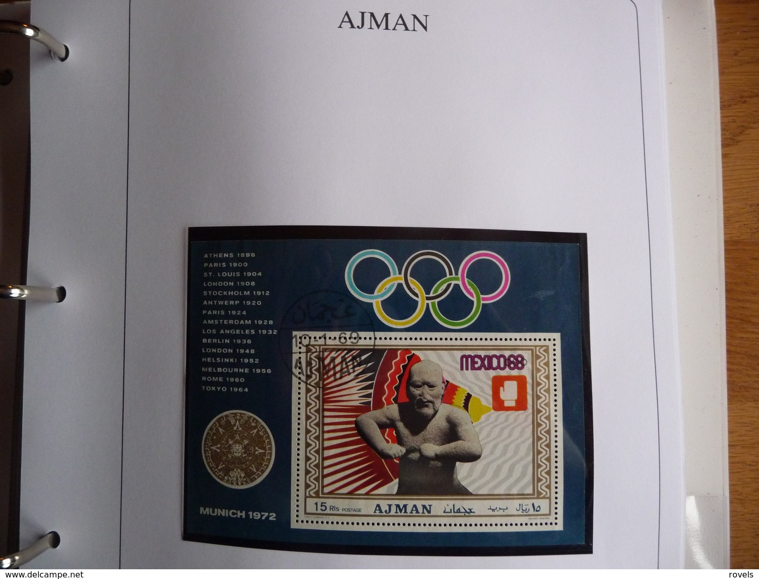 (OLYM1) AJAM   5 SHEETS IMPERF PERF OLYMPIC  ZOMER GAMES MEXICO 1968. - Zomer 1968: Mexico-City