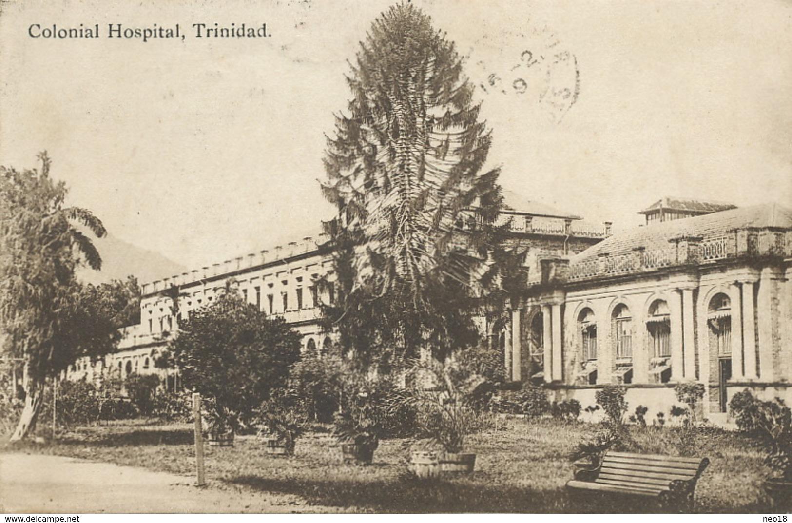 Colonial Hospital Trinidad 3 Stamps Sent To Baron De La Tousche St Sever Sur Adour Landes Edit Davidson And Todd - Trinidad