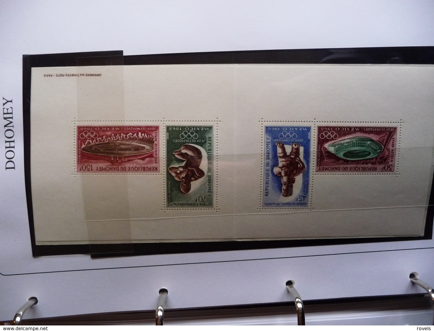 (OLYM1)  REPULIQUE DOHOMEY 2 SHEETS MNH 1968 OLYMPIC ZOMER GAMES . - Zomer 1968: Mexico-City