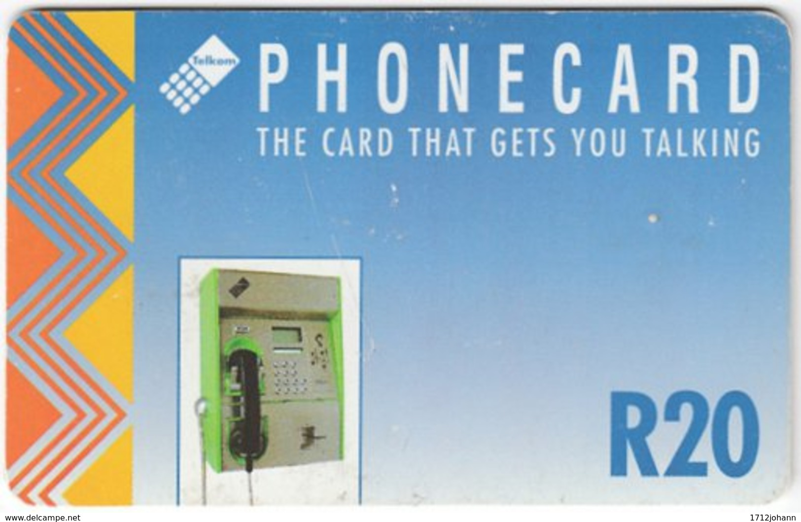 SOUTH AFRICA A-587 Chip Telkom - Communication, Phone Booth - Used - Sudafrica
