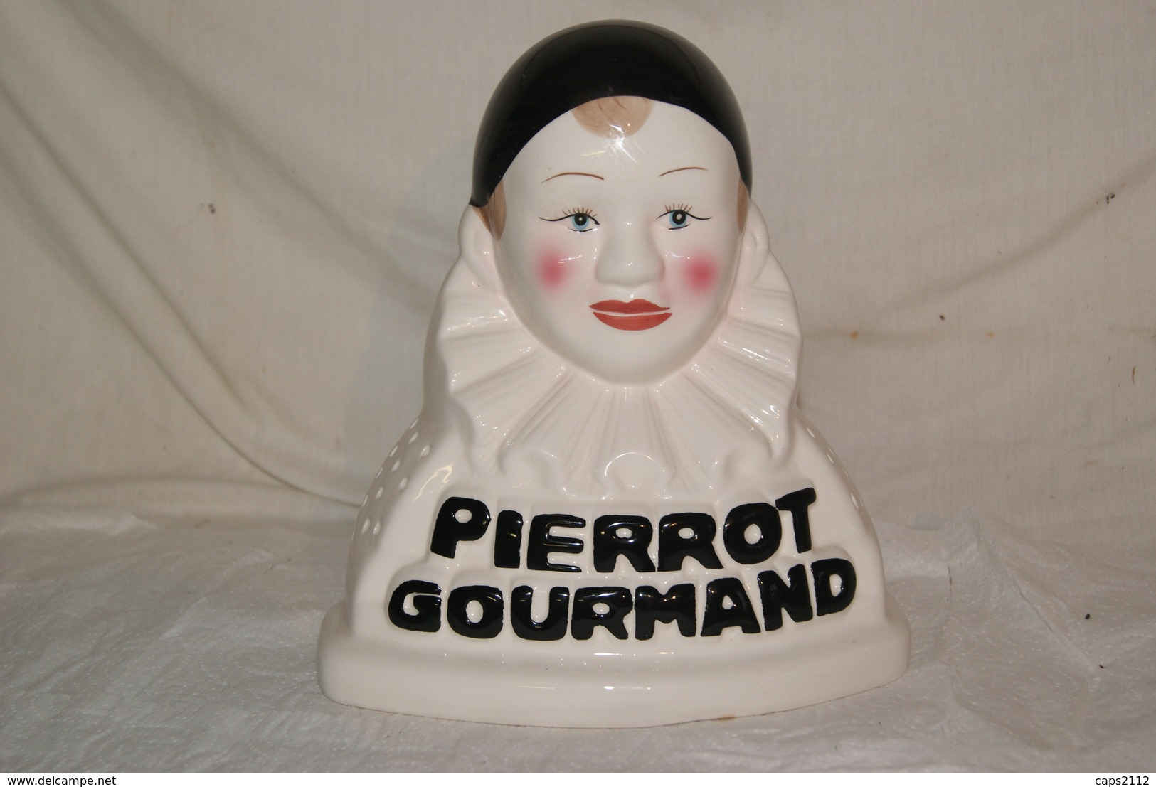 PIERROT GOURMAND - Porte Sucette , Alimentation , Publicite , Faience - Andere