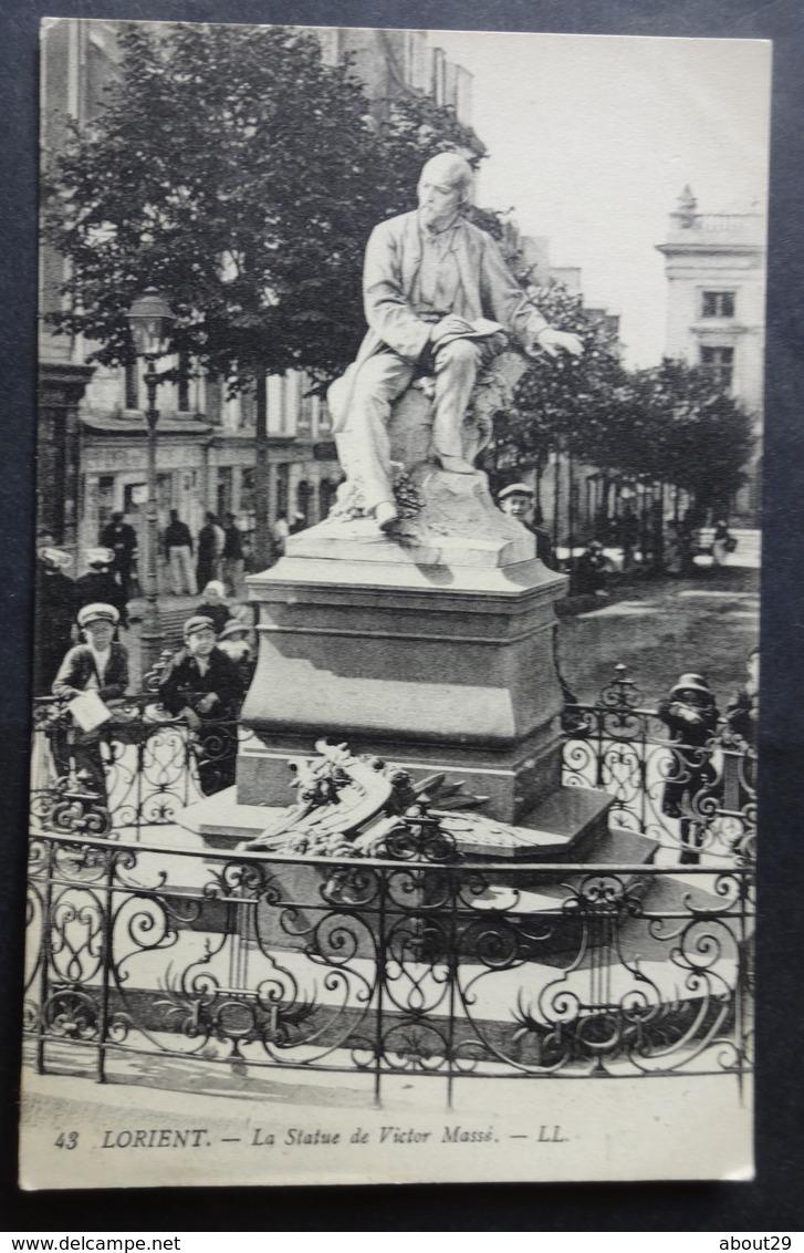 CPA 56 LORIENT - La Statue De Victor Massé - LL 43 - Réf. D 260 - Lorient