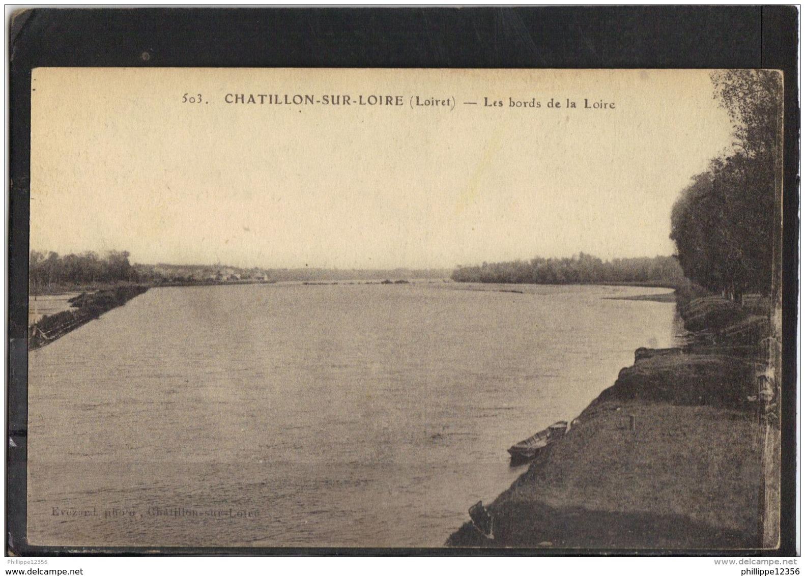 45150 . CHATILLON SUR LOIRE . LES BORDS DE LA LOIRE - Chatillon Sur Loire