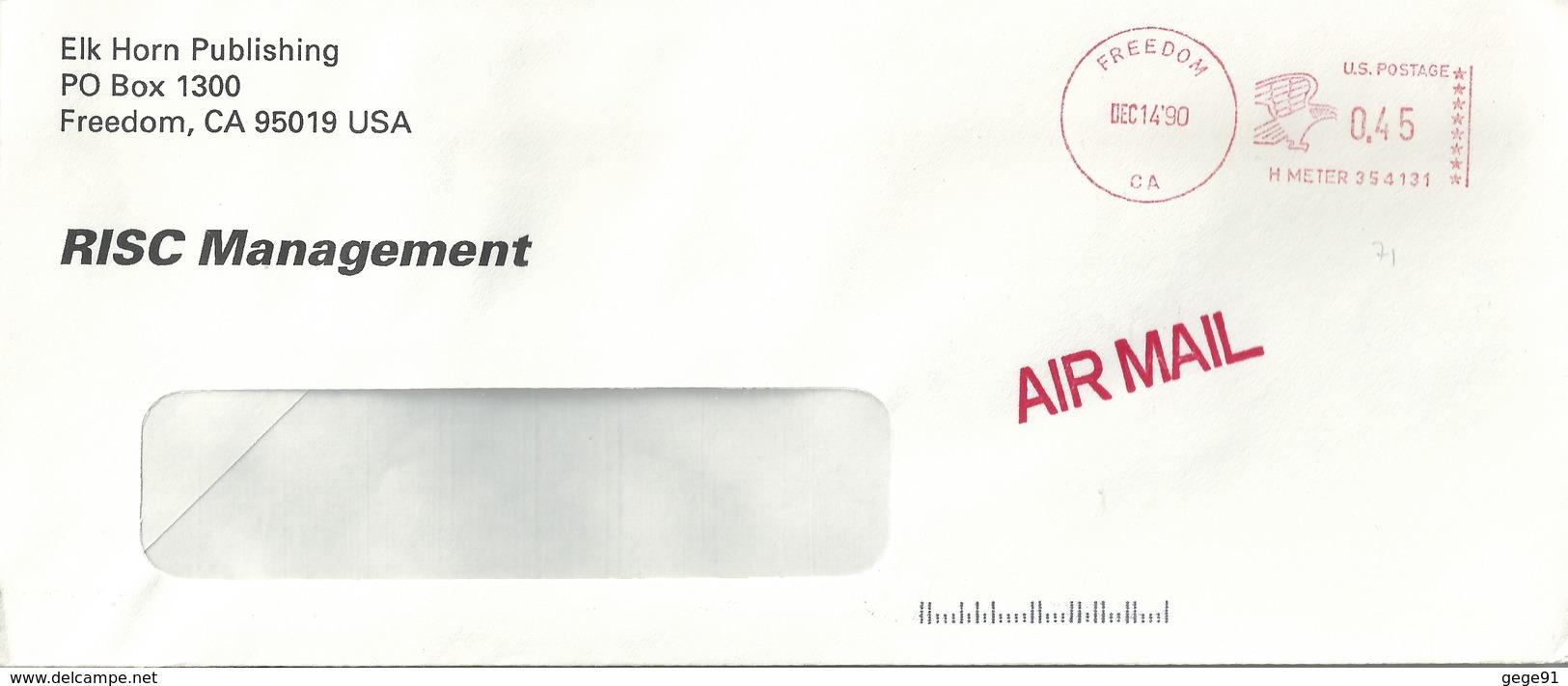 Ema Hasler - Lettre De Freedom - Aigle - Enveloppe Entière - Stati Uniti