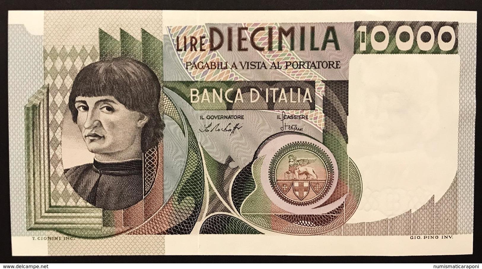 10000 LIRE DEL CASTAGNO 30 10 1976 SUP/FDS + 10000 LIRE DEL CASTAGNO 06 09 1980 SUP/FDS LOTTO 1472 - [ 2] 1946-… : Républic
