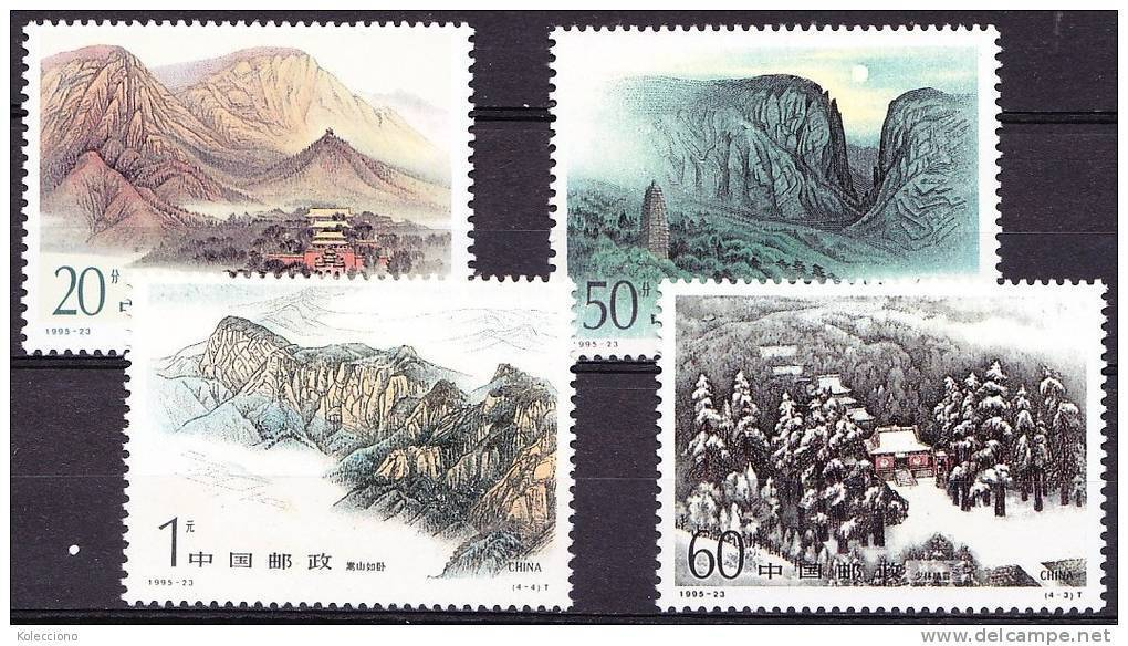 China 1995 Yvert 3337 / 40, Mounts Song, MNH - Neufs