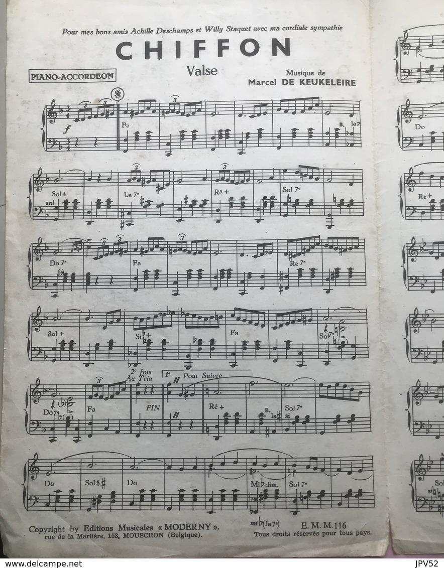 (40) Partituur - Partition - Chiffon - Valse Moderne - Marcel De Keukeleire - Partituren
