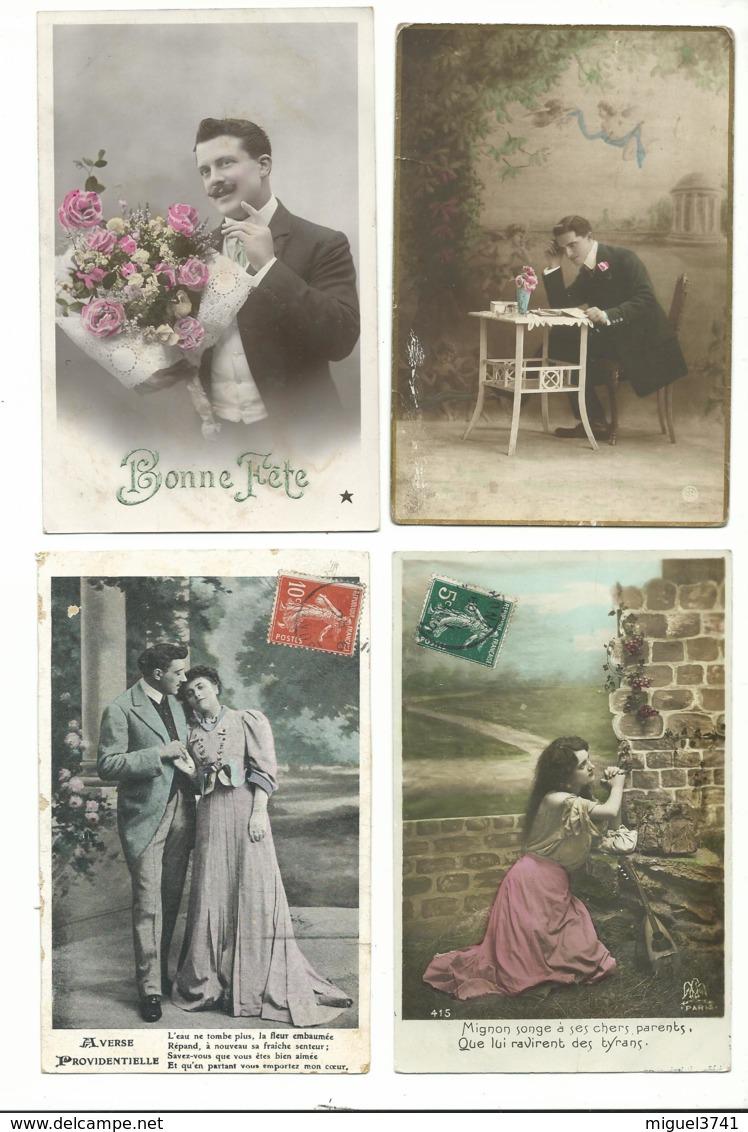 BEAU LOT DE 20 CARTES POSTALES FANTAISIE / ANNEE DEBUT 1900 . Cartes Ecrite .LOT 5 FRAIS DE LIVRAISON VOIR ANNONCE - Cartoline