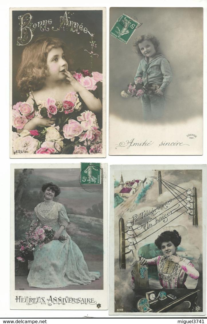 BEAU LOT DE 20 CARTES POSTALES FANTAISIE / ANNEE DEBUT 1900 . Cartes Ecrite .LOT 6 FRAIS DE LIVRAISON VOIR ANNONCE - 5 - 99 Cartoline
