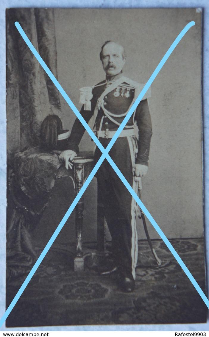 Photo ABL Officier Armée Belge Circa 1875 Belgische Leger Photographe J DUPONT Antwerpen Sabre Sword - Foto's