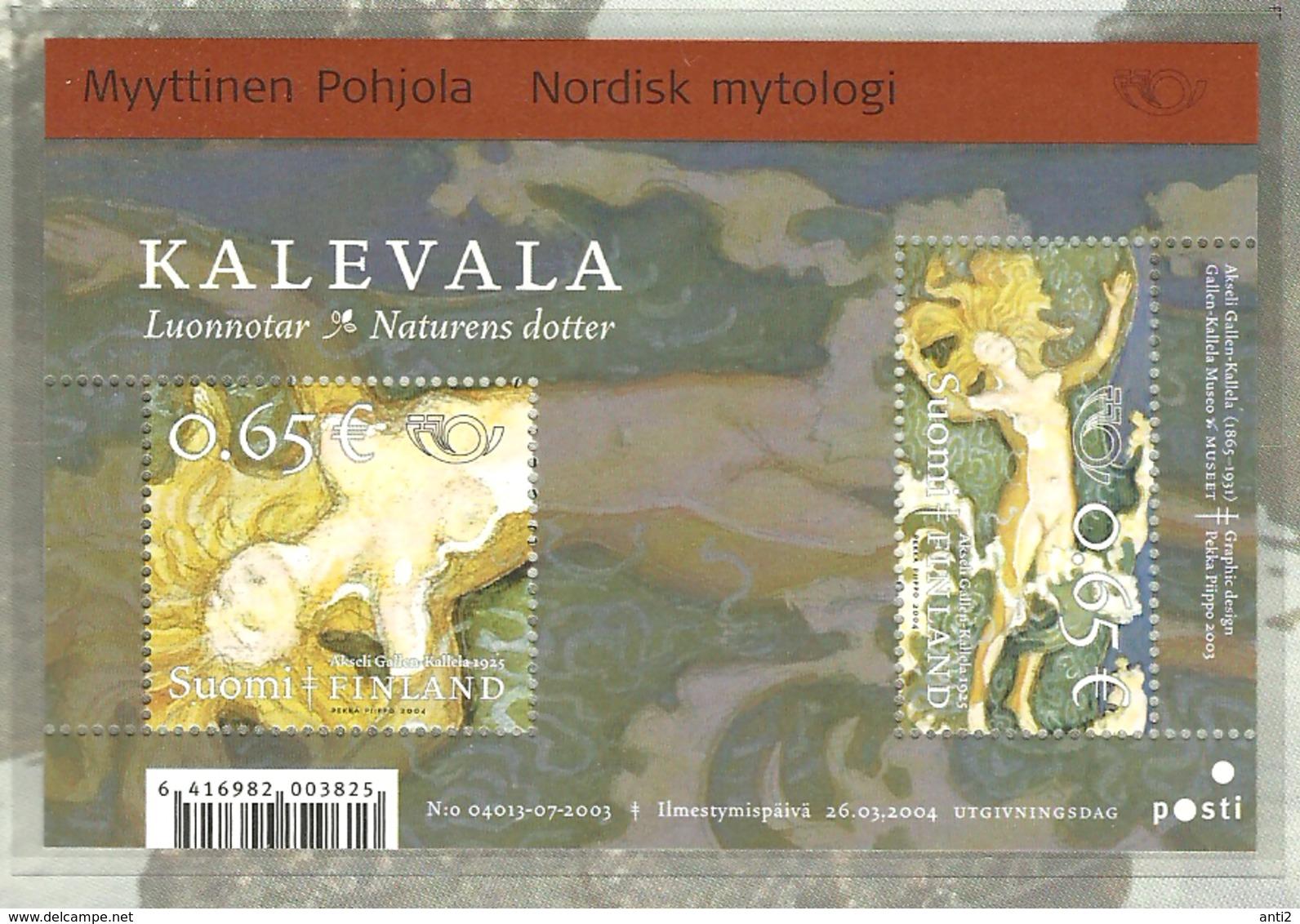 Finland  2004 Norden: Myths And Legends, Luonnotar; Illustration To The Great Kalevala, Mi Bloc 33, MNH(**) - Finlande