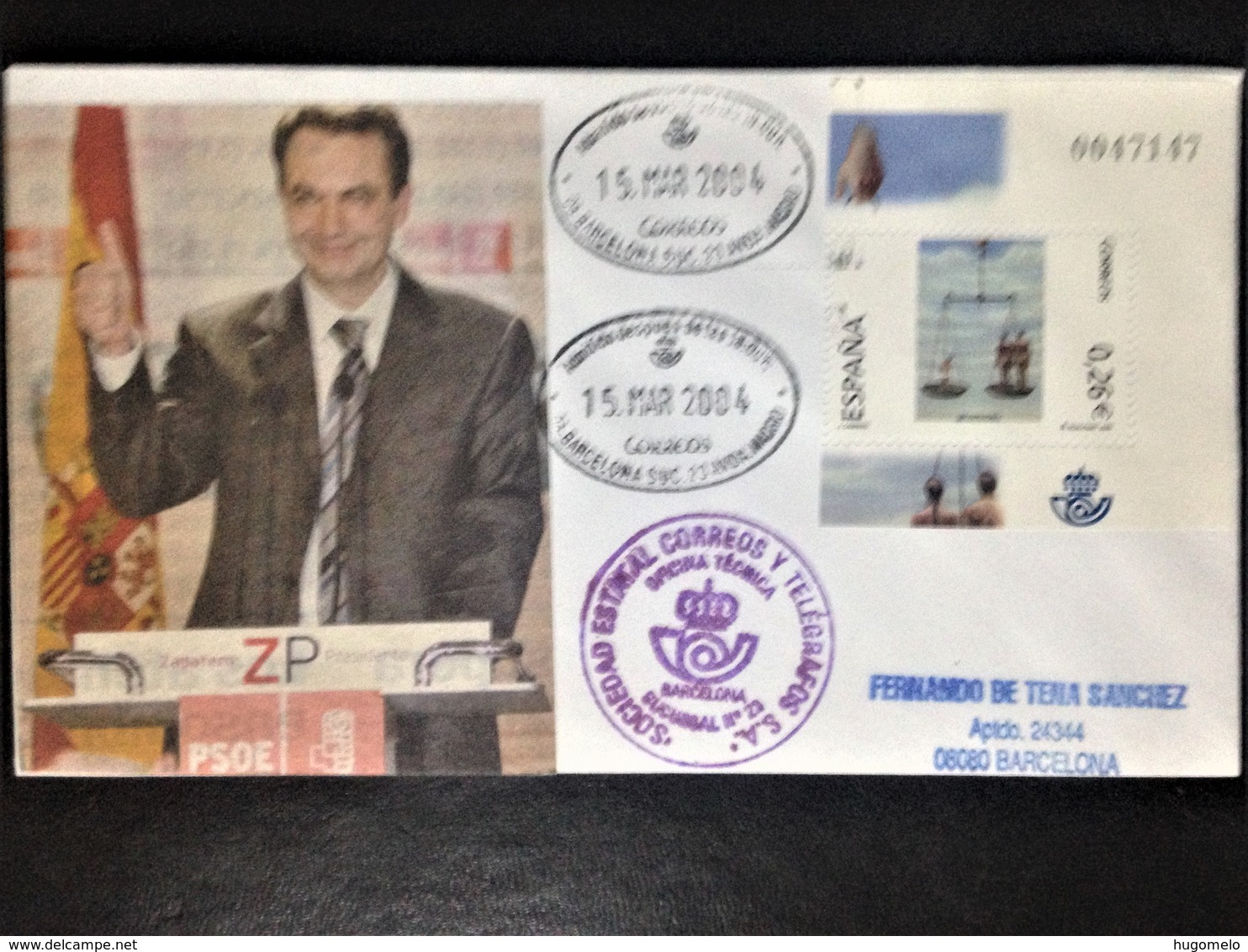 """Spain, Circulated Cover, """"Politics"""", """"Elections"""", """"Zapatero"""", 2004 - Collezioni"""