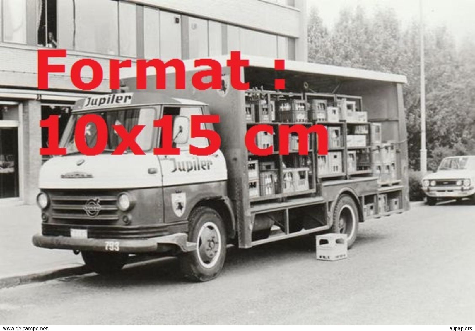 Reproduction D'une Photographie Ancienne D'un Camion Livreur Pour Jupiler - Reproductions