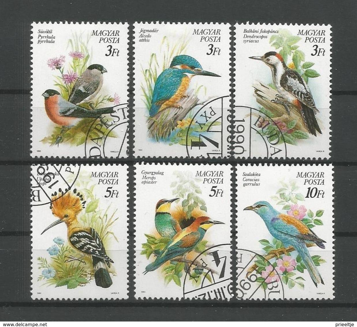 Hungary 1990 Birds Y.T. 3257/3262 (0) - Hongarije