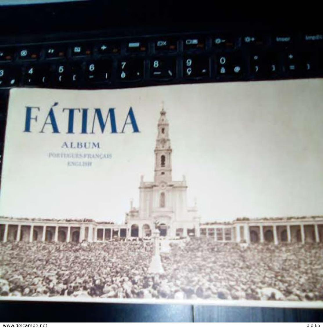 FATIMA ALBUM 1954 PORTUGUES FRANçAIS ENGLISH NOMBREUSES PHOTOS PLUS DE 60 PAGES - Christianity, Bibles