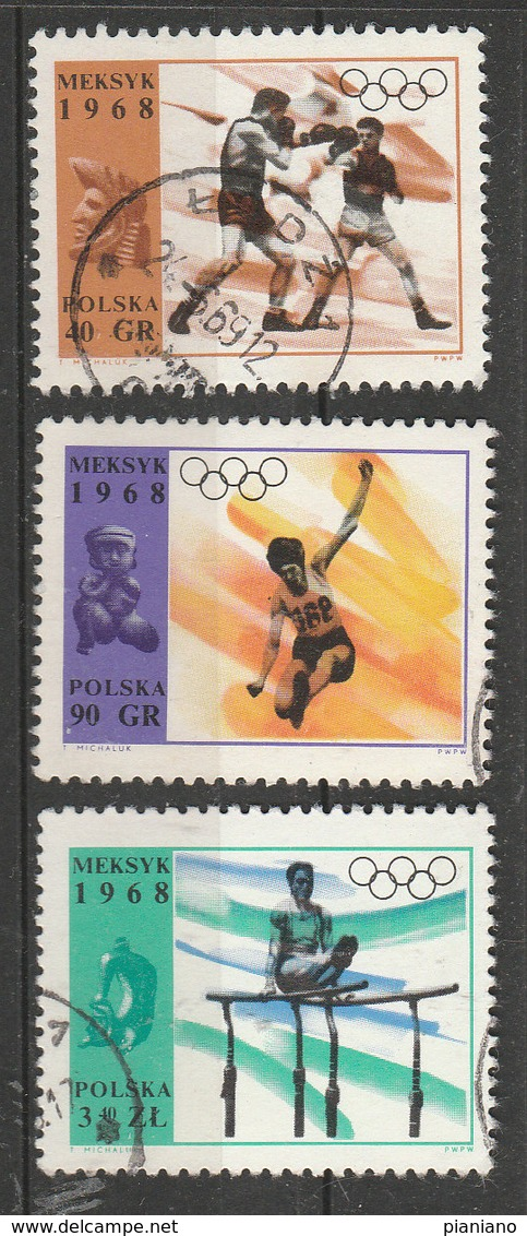 PIA  -  POLONIA  -  1968  : Giochi Olimpici Del Messico -   (YV 1705-06+1708+1710+1712) - Zomer 1968: Mexico-City