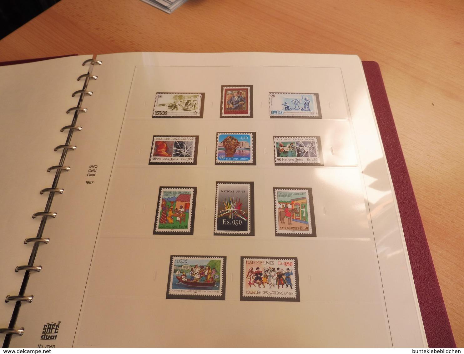UNO- Genf- Sammlung Nach Vordruck Komplett .... Alles Abgebildet - Briefmarken