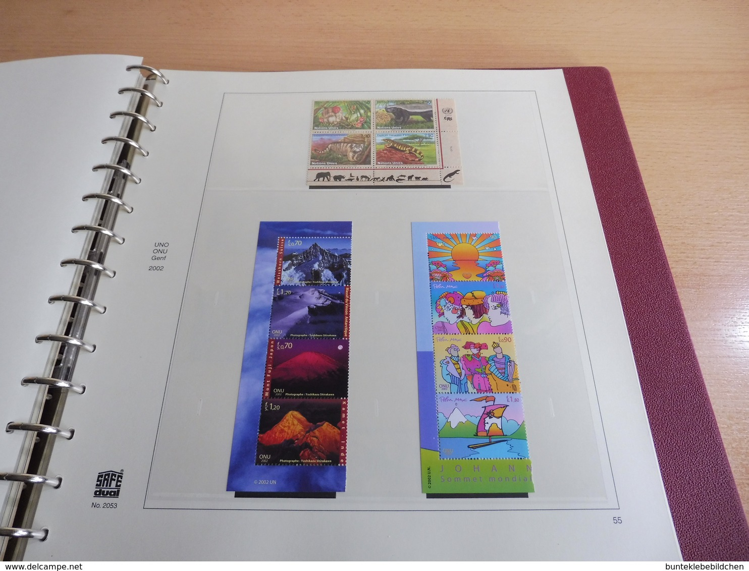 UNO- Genf- Sammlung Nach Vordruck Komplett .... Alles Abgebildet - Sammlungen (im Alben)
