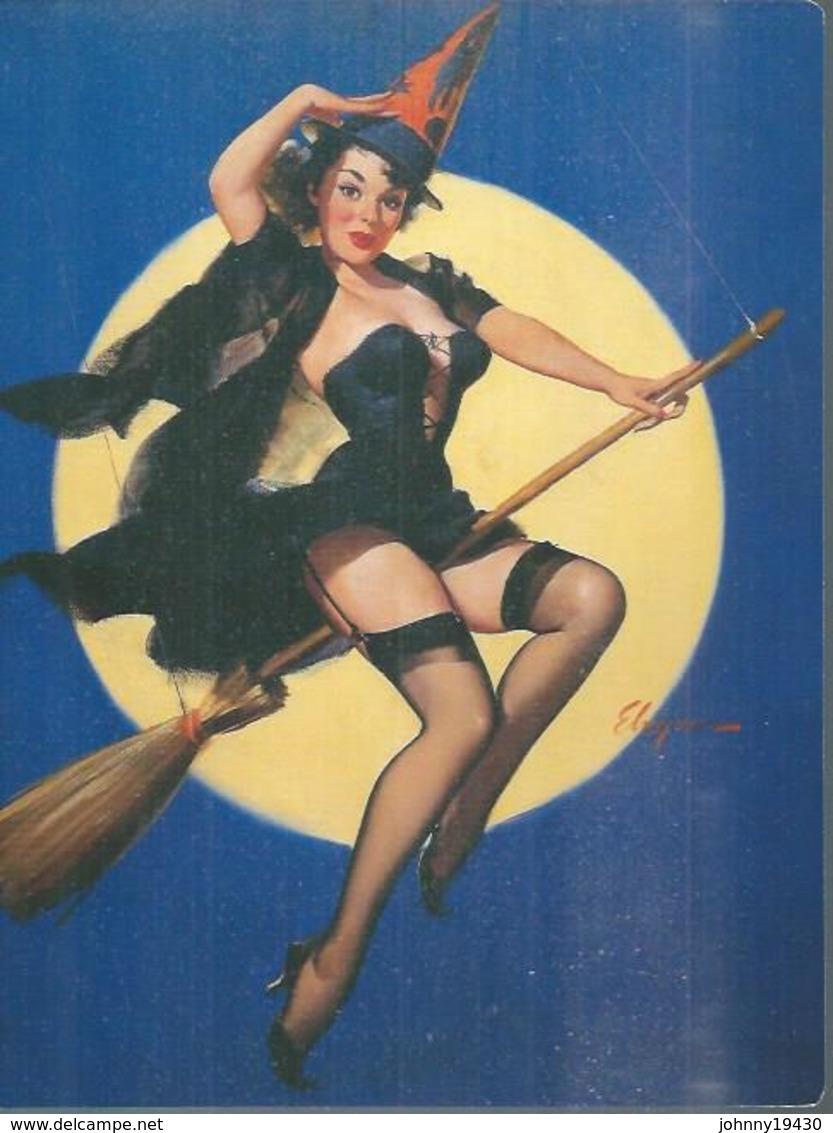 Format 16X22  - DESSIN: Gil ELVGREN ( PIN-UPS - EROTIQUE / NU / NUS / NUE / BAS - COLLANT  ) Genre ASLAN - Autres Illustrateurs