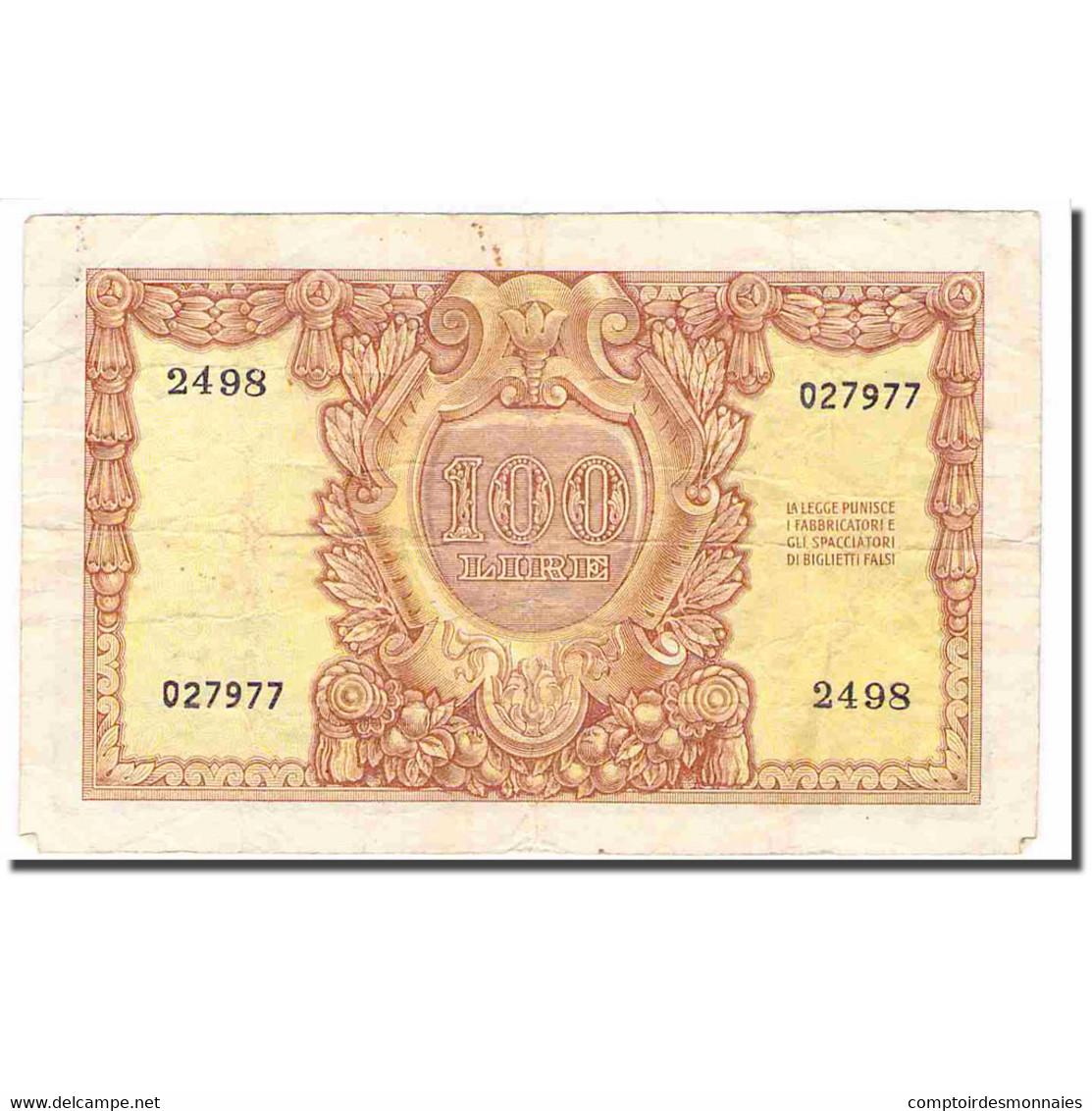Billet, Italie, 100 Lire, 1951, 1951-12-31, KM:92a, TTB - [ 2] 1946-… : Repubblica