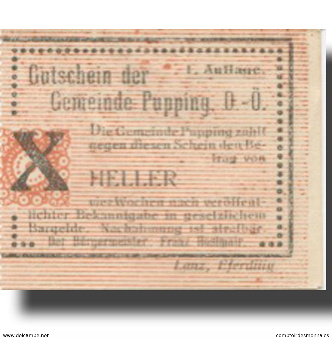 Billet, Autriche, Pupping, 10 Heller, Valeur Faciale, SPL, Mehl:FS 792Ia - Oesterreich