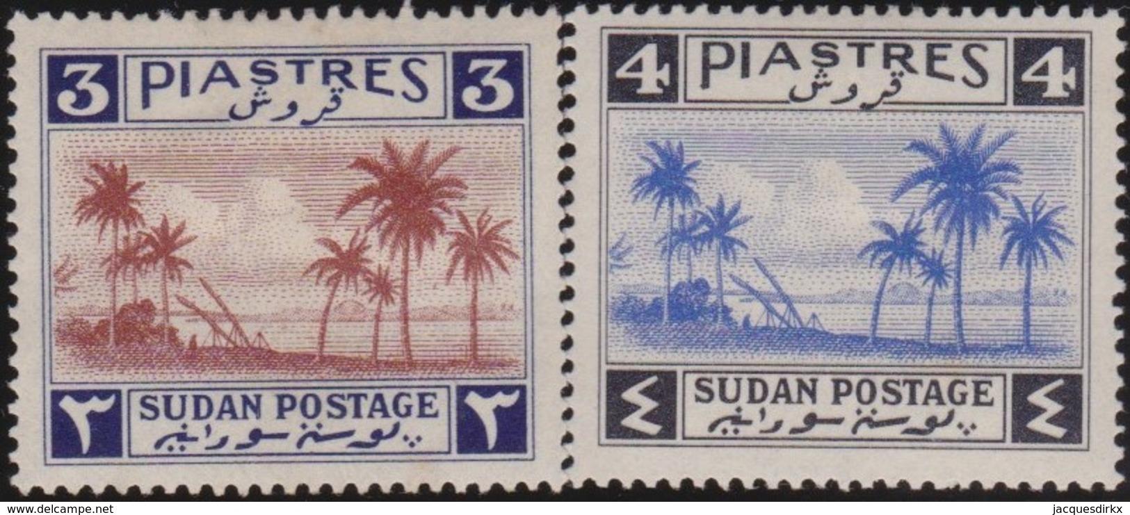 Sudan      .    SG  .    89/90     .   *     .   Mint-hinged    .   /   .   Ongebruikt - Soedan (...-1951)