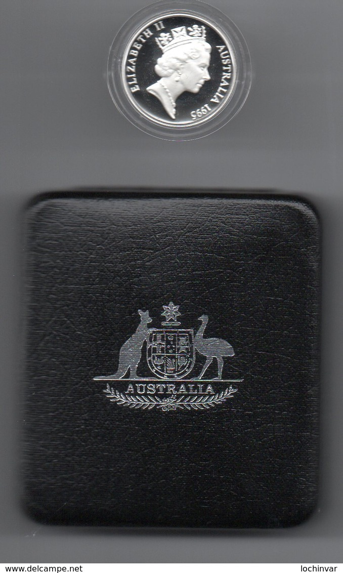 AUSTRALIA, 1995 WALTZING MATILDA SILVER PROOF COIN - Australia