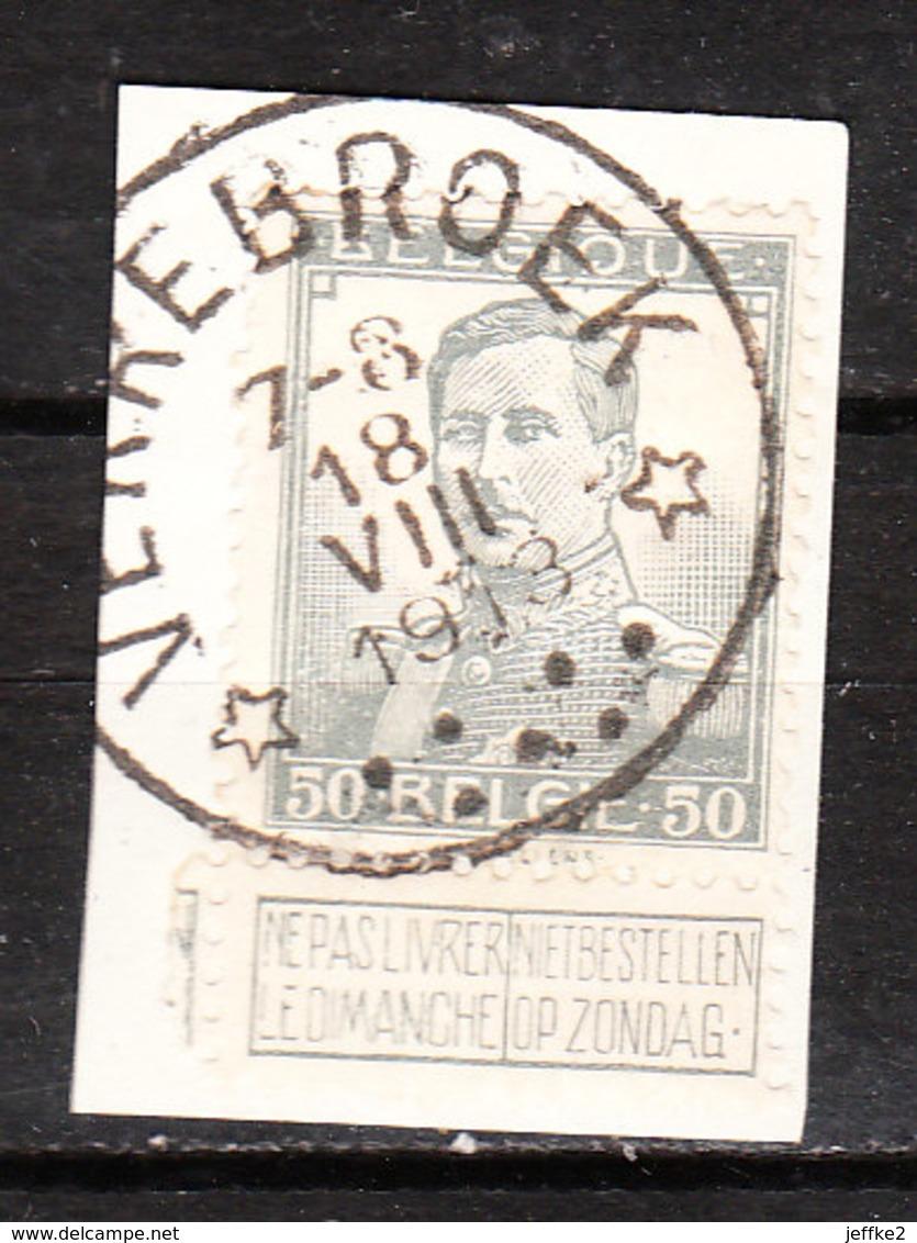 115  Pellens - Bonne Valeur - Oblit. Centrale Relais VERREBROEK - Sur Fragment - LOOK!!!! - 1912 Pellens