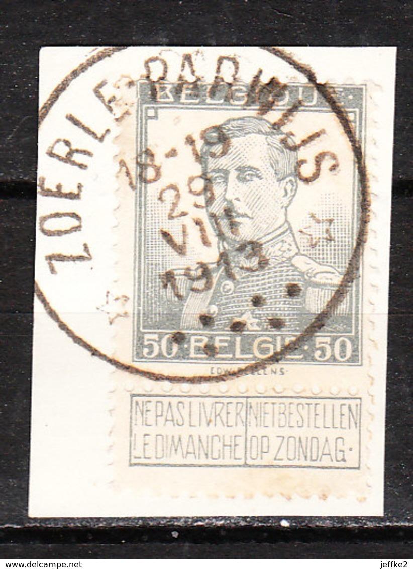 115  Pellens - Bonne Valeur - Oblit. Centrale Relais ZOERLE-PARWIJS  - Sur Fragment - LOOK!!!! - 1912 Pellens