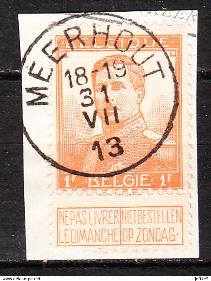 116  Pellens - Bonne Valeur - Oblit. Centrale MEERHOUT  - Sur Fragment - LOOK!!!! - 1912 Pellens