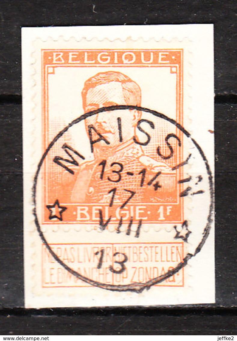 116  Pellens - Bonne Valeur - Oblit. Centrale Relais MAISSAIN  - Sur Fragment - LOOK!!!! - 1912 Pellens