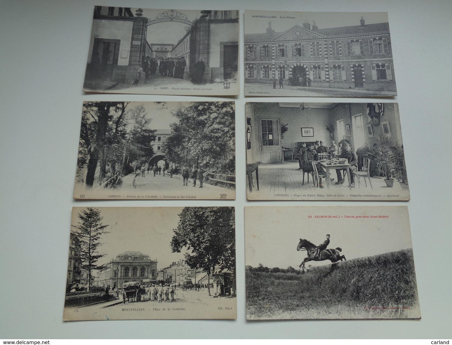 Beau Lot De 20 Cartes Postales De L' Armée Française Soldats  Soldat     Mooi Lot Van 20 Postkaarten Frans Leger Soldaat - Cartes Postales