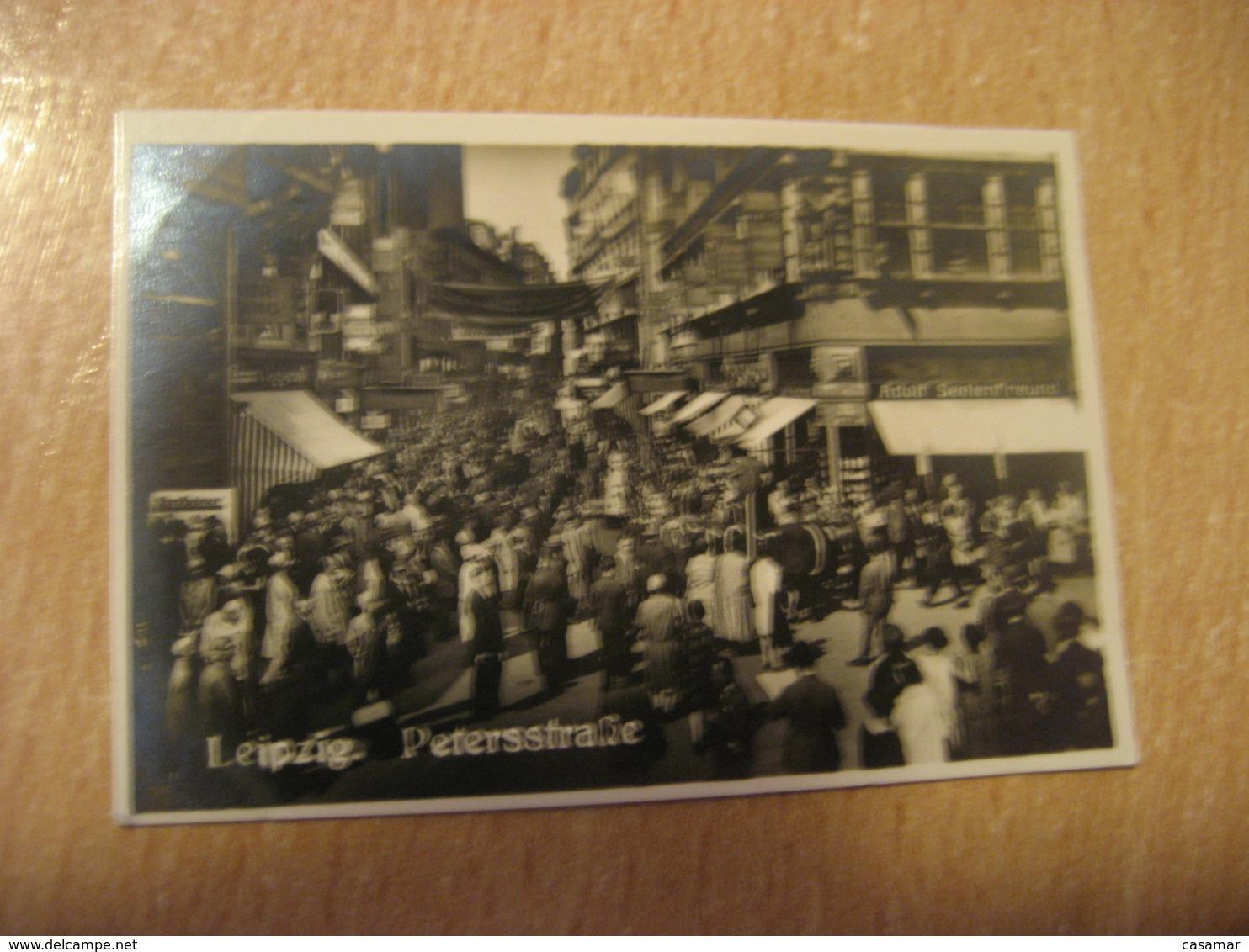 LEIPZIG Petersstrasse Bilder Card Photo Photography (4,3x6,3cm) Tourist Centers GERMANY 30s Tobacco - Deutschland