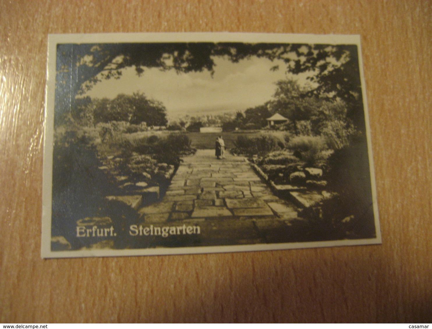 ERFURT Steingarten Bilder Card Photo Photography (4,3x6,3cm) Garden Gardens GERMANY 30s Tobacco - Ohne Zuordnung