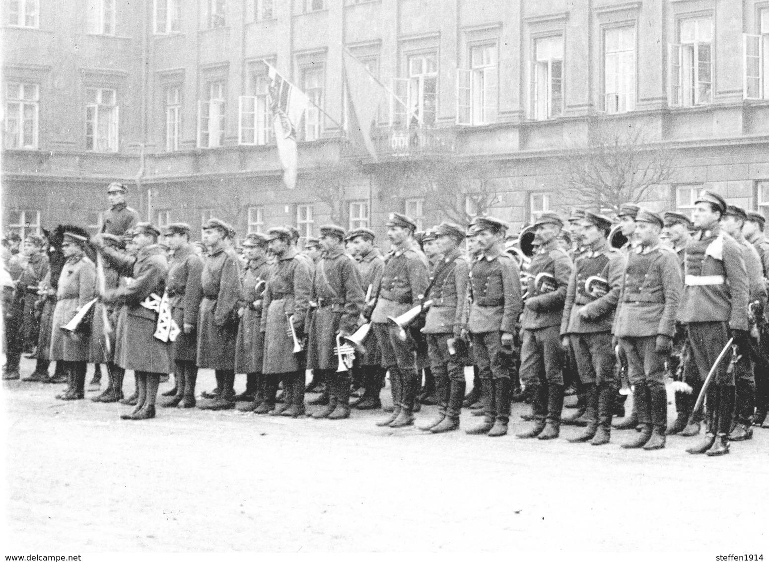 Warschau - Polnische Legion Soldaten - Einzug In Warschau Polen 1916  -carte   Photo-1914-1918 WWI - Guerre 1914-18